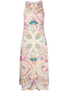 Etro платье в рубчик