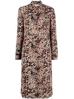 Patrizia Pepe платье-рубашка с леопардовым принтом