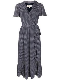 Michael Michael Kors платье миди с запахом и цветочным принтом