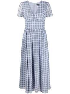 Emporio Armani шифоновое платье в клетку
