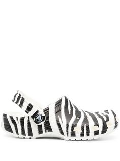 Crocs кроксы с зебровым принтом