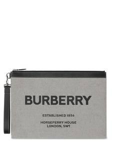 Burberry большой клатч с принтом Horseferry