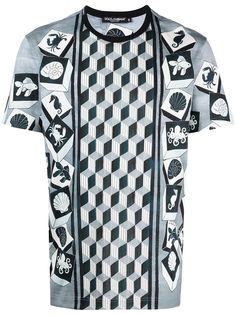 Dolce & Gabbana футболка с геометричным принтом