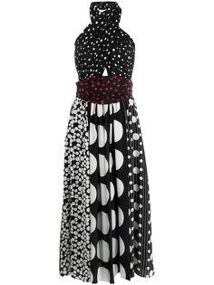 Dolce & Gabbana платье в горох с вырезом халтер