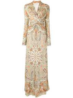 Etro платье с принтом пейсли и сборками