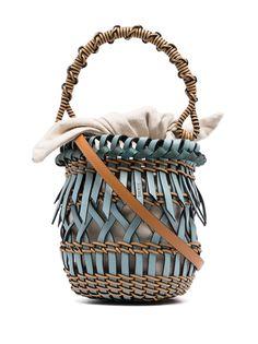 LOEWE маленькая сумка-ведро Fringes