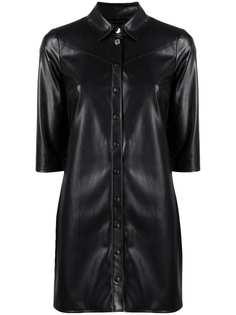 Patrizia Pepe платье-рубашка из искусственной кожи