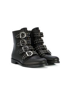 Gallucci Kids байкерские ботинки с пряжками