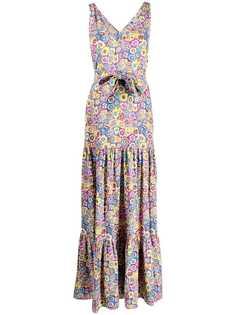 M Missoni платье макси с цветочным принтом и складками
