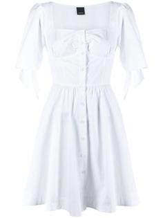 Pinko расклешенное платье с завязками