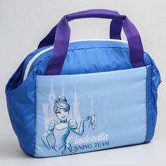 Сумка для фитнеса золушка, 37 x 13 x 31 см, отдел на молнии, 2 боковых кармана, длинный ремень Disney