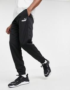 Спортивные брюки из черной ткани Puma-Черный цвет