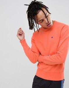 Персиковый свитшот с маленьким логотипом Champion-Оранжевый