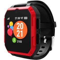 Детские умные часы GEOZON ULTRA G-Kids 4G Black/Red
