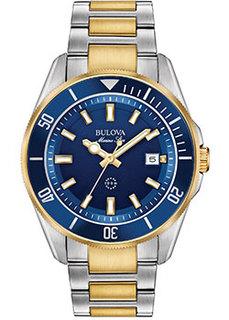 Японские наручные мужские часы Bulova 98B334. Коллекция Marine Star