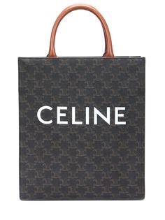 Сумка кожаная с логотипом Celine