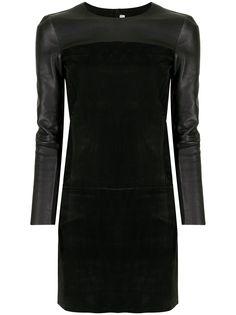 Céline Pre-Owned платье с длинными рукавами и вставками
