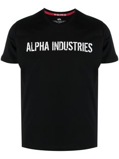Alpha Industries футболка с надписью