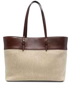 Saint Laurent сумка-тоут с тисненым логотипом