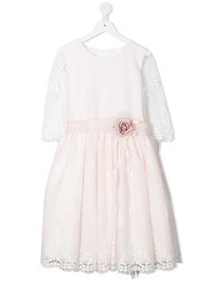 Mimilù платье с цветочной аппликацией