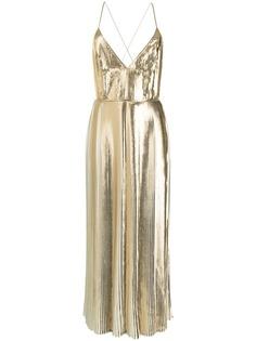Valentino коктейльное платье с плиссировкой