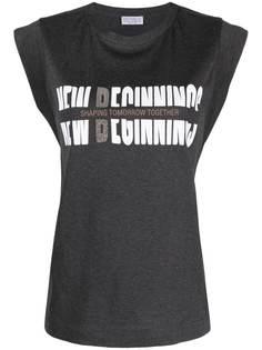 Brunello Cucinelli футболка без рукавов с логотипом