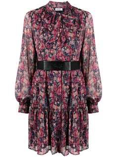 LIU JO платье с цветочным принтом и поясом