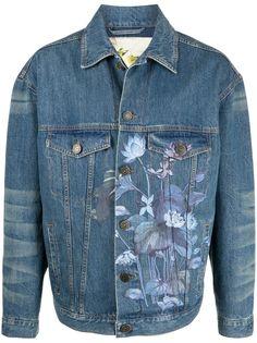 Etro джинсовая куртка с цветочным принтом