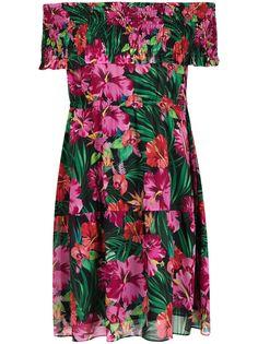 Patrizia Pepe платье с открытыми плечами и цветочным принтом