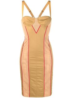 Burberry quilted technical corset dress