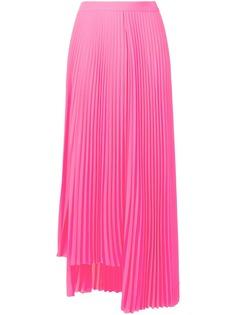 Balenciaga плиссированная юбка миди с разрезом