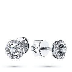 Пусеты из белого золота с бриллиантами э0901пс10177400 ЭПЛ Якутские Бриллианты