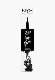 Подводка для глаз Nyx Professional Makeup Epic Ink Liner, оттенок 01, Black, 1 мл