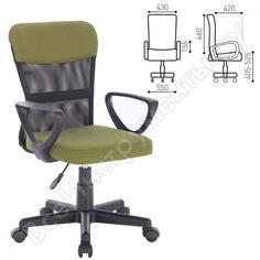 Кресло оператора, с подлокотниками, зеленое, brabix jet mg-315 531841