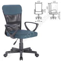 Кресло оператора, с подлокотниками, синее brabix jet mg-315 531842
