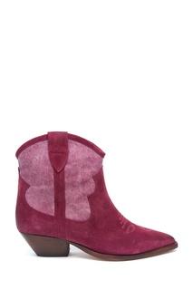 Ботинки цвета фуксия Isabel Marant