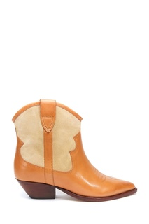 Коричнево-бежевые ботинки Isabel Marant