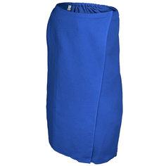 Вафельная накидка для женщин Банные штучки 145x78 см синяя