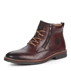 Ботинки Коричневые ботинки из комбинированных материалов на шнуровке Rieker
