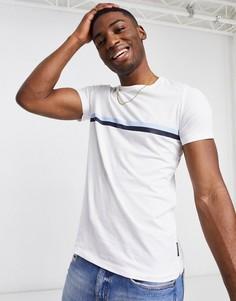 Белая футболка с тонкими полосками FrenchConnection-Многоцветный