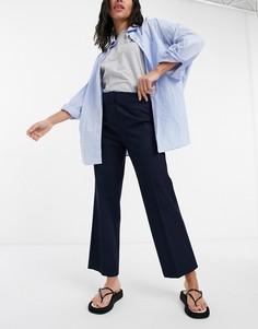 Темно-синие брюки с широкими штанинами Selected Femme-Темно-синий
