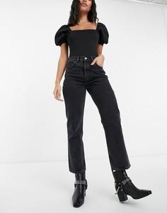 Черные джинсы прямого кроя Topshop Editor-Черный цвет