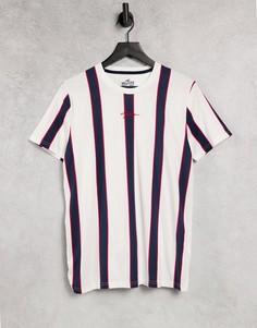 Футболка с вертикальными полосками красного/белого/синего цвета и логотипом Hollister-Красный