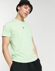 Лаймовая футболка с центральным логотипом в виде игрока в поло Polo Ralph Lauren-Зеленый цвет