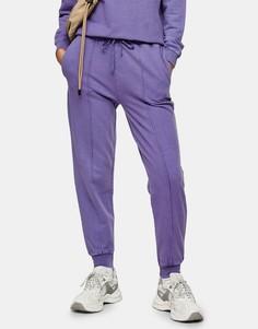 Фиолетовые джоггеры с эффектом кислотной стирки Topshop-Фиолетовый цвет