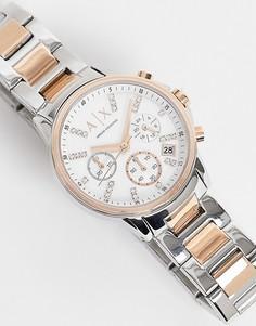 Женские часы-браслет с комбинированной металлической отделкой Armani Exchange AX4331-Золотистый