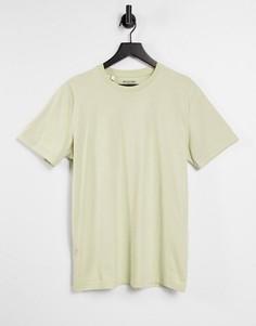 """Светло-зеленая футболка Selected Homme """"The Perfect Tee""""-Зеленый цвет"""