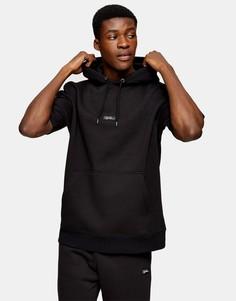 Черный свитшот с фирменной нашивкой Topman-Черный цвет