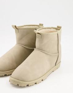 Светло-серые ботинки-слиперы изискусственной замши ASOS DESIGN-Нейтральный