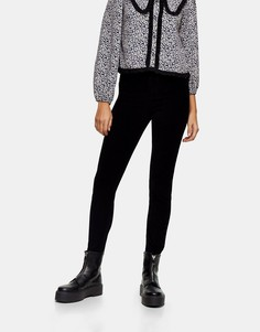 Черные вельветовые джинсы Topshop Jamie-Черный цвет